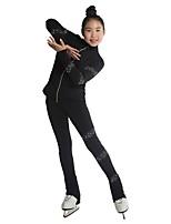 economico -Collant copripattini Per donna Da ragazza Pattinaggio sul ghiaccio Pantalone/Sovrapantaloni Tuta da ginnastica Top Bianco Rosso Blu