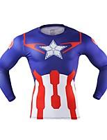 abordables -Captain America Hombre Navidad Festival / Celebración Disfraces de Halloween Rojo Un Color