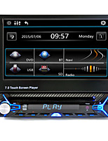 abordables -1 din 7 '' pulgadas de radio del coche audio lcd pantalla táctil video multimedia reproductor de dvd bluetooth