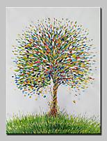 economico -Dipinta a mano Floreale/Botanical Verticale,Semplice Modern Tela Hang-Dipinto ad olio Decorazioni per la casa Un Pannello