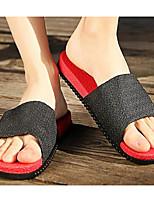 Men's Shoes PVC Leather Spring Fall Comfort Slippers & Flip-Flops for Casual Royal Blue Dark Blue Black