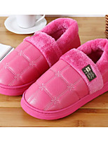 cheap -Women's Shoes PU Spring Fall Comfort Slippers & Flip-Flops Flat Heel for Casual Pink Red Brown Dark Blue