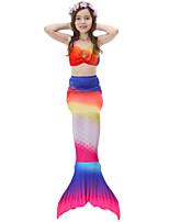 cheap -Girls' Cute Active Print Swimwear, Cotton Polyester Sleeveless Red