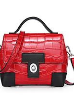 cheap -Women Bags PU Shoulder Bag Buttons Zipper for Casual All Season Wine Dark Brown Red Silver