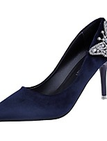 cheap -Women's Shoes PU Spring Fall Comfort Heels Stiletto Heel Pointed Toe for Casual Blue Black