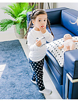 cheap -Girls' Cartoon Sleepwear,Polyester Long Sleeves Cartoon White