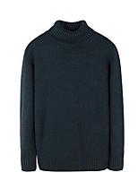 Недорогие -Для мужчин Повседневные На каждый день Обычный Пуловер Однотонный,Хомут Длинный рукав Кашемир Зима Осень Толстая Неэластичная