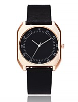 cheap -Women's Fashion Watch Chinese Quartz Large Dial PU Band Casual Minimalist Black Brown Grey Beige