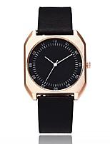 abordables -Mujer Reloj de Moda Chino Cuarzo Esfera Grande PU Banda Casual Minimalista Negro Marrón Gris Color Beige