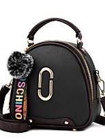cheap -Women Bags PU Shoulder Bag Zipper for Casual Office & Career All Season Yellow Gray Dark Blue Blushing Pink Red