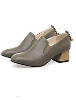 Недорогие -Для женщин Обувь Материал на заказ клиента Весна Осень Светодиодные подошвы Обувь на каблуках На толстом каблуке Круглый носок Закрытый