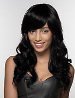 cheap -Women Human Hair Capless Wigs Strawberry Blonde/Light Blonde Medium Auburn Natural Black Long Body Wave Side Part