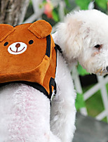 cheap -Cat Dog Backpack Pet Carrier Mini Walking Portable Foldable Flexible Color Block Cartoon Cute Pink Green Red Brown Orange