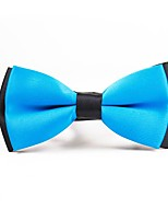 cheap -Men's Polyester Bow Tie,Simple Casual Solid Color All Seasons Light Blue