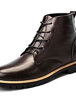 cheap -Men's Shoes Cowhide Nappa Leather Winter Fall Comfort Fashion Boots Boots Mid-Calf Boots for Casual Brown Black