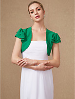 cheap -Short Sleeves Chiffon Wedding Party / Evening Women's Wrap Shrugs