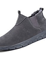 cheap -Men's Shoes Nubuck leather PU Winter Fall Comfort Snow Boots Boots Booties/Ankle Boots for Casual Khaki Gray Black
