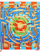 cheap -Building Blocks Maze Magnetic Maze Toys Flat Shape Square Shape Sports School/Graduation School Magnetic Wood Kids Pieces