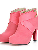 cheap -Women's Shoes Nubuck leather Spring Fall Comfort Novelty Fashion Boots Boots Stiletto Heel Pointed Toe Booties/Ankle Boots Rivet Buckle