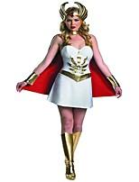 cheap -Goddess Athena Ancient Greek Costume Women's Skirt White Vintage Cosplay Polyster Sleeveless Cap Short / Mini