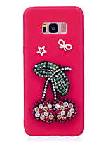 cheap -Case For Samsung Galaxy S8 Plus S8 Rhinestone Pattern DIY Back Cover Fruit Soft TPU for S8 Plus S8 S7