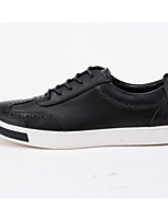 cheap -Men's Shoes Cowhide Spring Fall Comfort Sneakers for Casual Black
