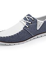 Недорогие -Для мужчин обувь Ткань Весна Осень Удобная обувь Кеды для Повседневные Серый Синий
