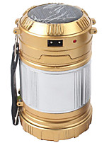cheap -Lanterns & Tent Lights Emergency Lights LED 200 lm Automatic Mode LED Form Fit Camping/Hiking/Caving Gold Black