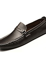 cheap -Men's Shoes Real Leather Spring Summer Driving Shoes Comfort Light Soles Loafers & Slip-Ons for Casual Outdoor Brown Black White