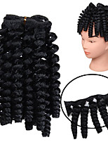 cheap -20inch Synthetic Curls Kalon Synthetic Kinky Curly Hair Weft 100% Kanekalon Fiber Bouncy Curly Bundles Bouncy Curly Twist Weave 70g 20roots