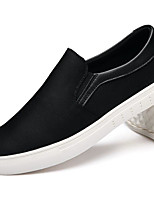 abordables -Hombre Zapatos Tejido Primavera Otoño Confort Zapatos de taco bajo y Slip-On para Casual Negro
