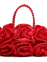 Women Bags Polyester Evening Bag Flower(s) for Wedding Event/Party All Season Almond Beige Blushing Pink Red Black