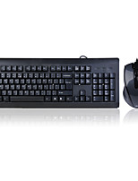 a4tech kb-n9100 teclado com fio e mouse usb / ps2 104 teclas resistente a derramamentos com cabo de 150 cm