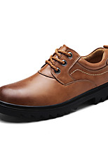 cheap -Men's Shoes Cowhide Spring Fall Comfort Oxfords for Casual Outdoor Dark Brown Light Brown Black