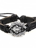 cheap -Men's Bracelet , Animals Gothic Leather Alloy Circle Lion Jewelry Halloween Carnival