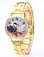 cheap -Men's Women's Casual Watch Fashion Watch Wrist watch Chinese Quartz N/A Stainless Steel Band Luxury Colorful Silver Gold Rose Gold
