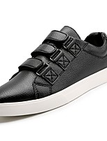 cheap -Men's Shoes Nappa Leather Spring Fall Comfort Sneakers Buckle for Outdoor Black White