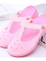 cheap -Women's Shoes PVC Leather Spring Fall Comfort Jelly Shoes Slippers & Flip-Flops Flat Heel for Casual Light Green Light Blue Pink Light
