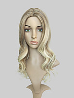 cheap -Women Synthetic Wig Long Deep Wave Blonde Natural Hairline Layered Haircut Celebrity Wig Cosplay Wig Natural Wigs Costume Wig