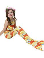 cheap -Girls' Cute Active Print Swimwear, Cotton Polyester Sleeveless Orange