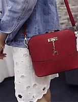 cheap -Women Bags PU Crossbody Bag Zipper for Casual All Season Blue Black Red Gray Purple