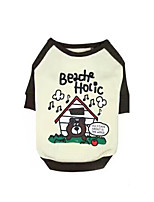 Dog Sweatshirt Dog Clothes Casual/Daily Cartoon Pink Coffee Costume For Pets