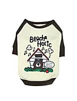 Chien Sweatshirt Vêtements pour Chien Décontracté / Quotidien Dessin-Animé Café Rose Costume Pour les animaux domestiques