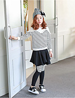 cheap -Girls' Solid Pants,Polyester Winter Fall Cute Active Black
