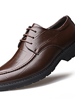Недорогие -Для мужчин обувь Наппа Leather Зима Осень Формальная обувь Туфли на шнуровке для Повседневные Для вечеринки / ужина Черный Коричневый