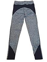preiswerte -Damen Enge Laufhosen Dehnbar Hosen/Regenhose Strumpfhosen/Lange Radhose Yoga Rennen Kunstseide Nylon Eng Schwarz Gelb M L