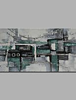 Недорогие -Ручная роспись Абстракция Горизонтальная,Modern Холст Hang-роспись маслом Украшение дома 1 панель