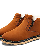 cheap -Men's Shoes Nubuck leather Spring Fall Comfort Snow Boots Boots Booties/Ankle Boots for Casual Black Blue Camel
