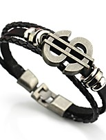 cheap -Men's Link Bracelet , Vintage Basic Leather Alloy Dollars Jewelry Daily Formal