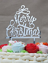Cake Topper Holiday Acrylic Euramerican Chrismas Plastic Others with Acrylic Trim 1 OPP
